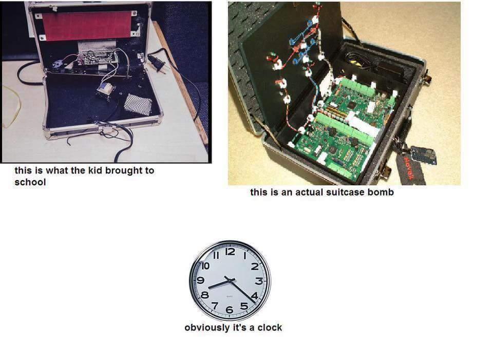 This is Ahmed's clock - meme