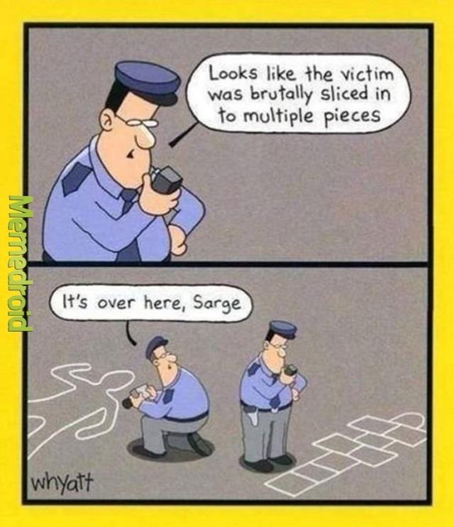 u be lookin at da wrong chalk drawind sarge! - meme