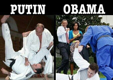 Puyin VS Obama - meme