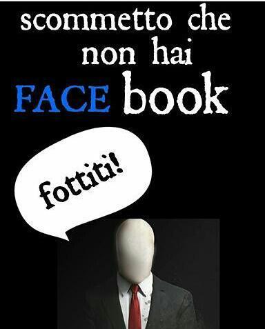 #facciadelloslenderman - meme