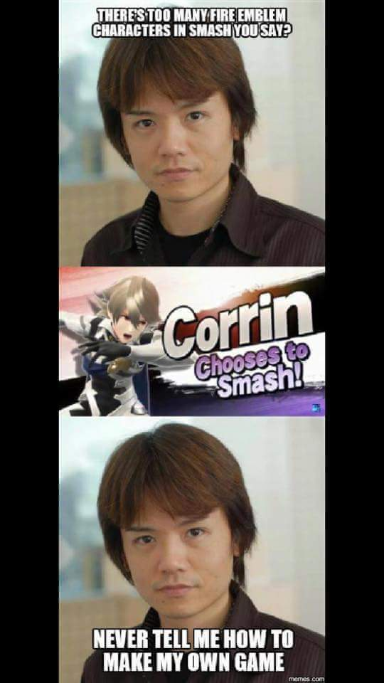 Sakurai is in charge - meme