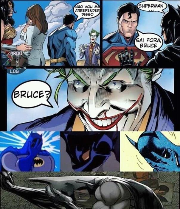 Superman sendo pior que o Aquaman - meme