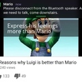 Mario has some strict shit goin' on