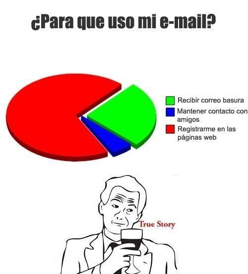 La verdad de mi correo - meme