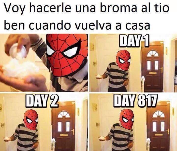 Pobre Spidey :'( - meme