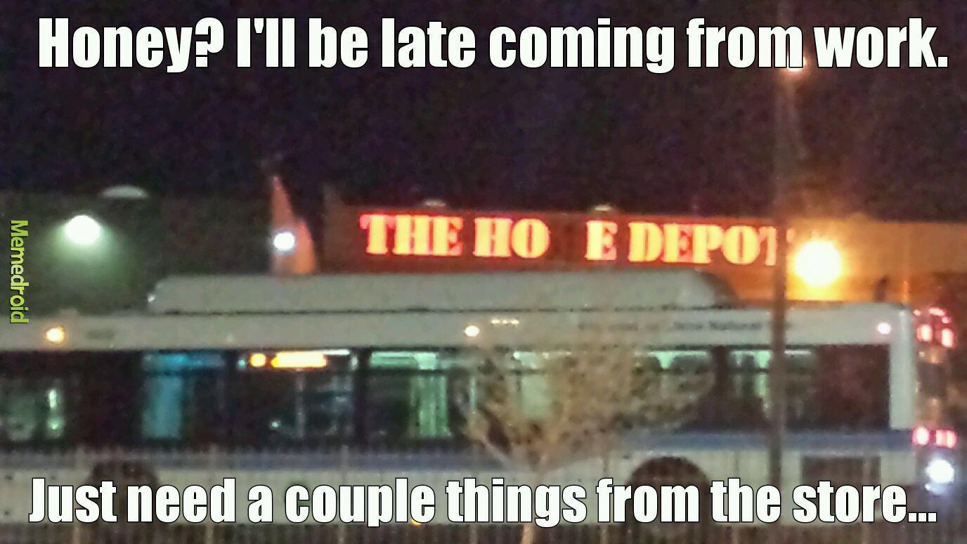 Hoe Depot - meme