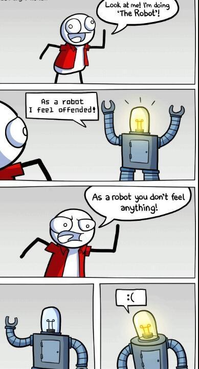 Robot :c - meme
