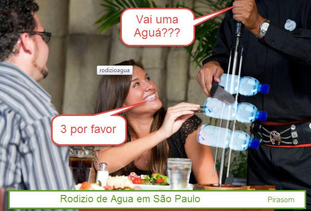 Rodízio de água em São Paulo - meme