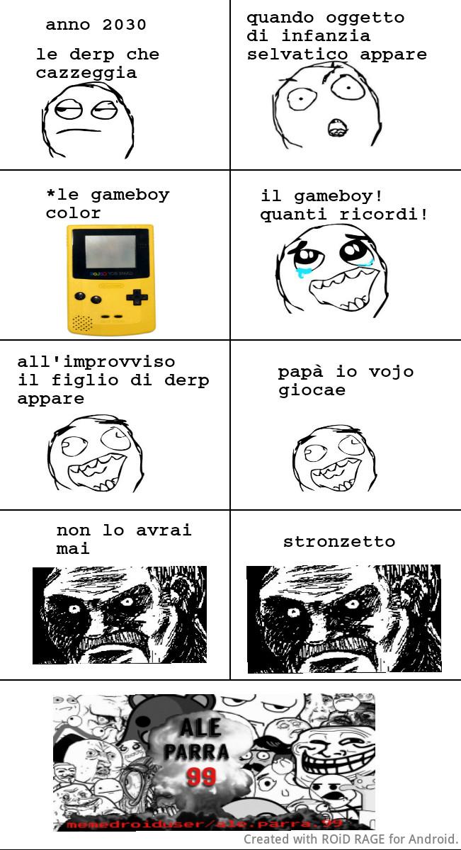 Aah il gameboy! Quanti ricordi! By ale.parra.99 - meme