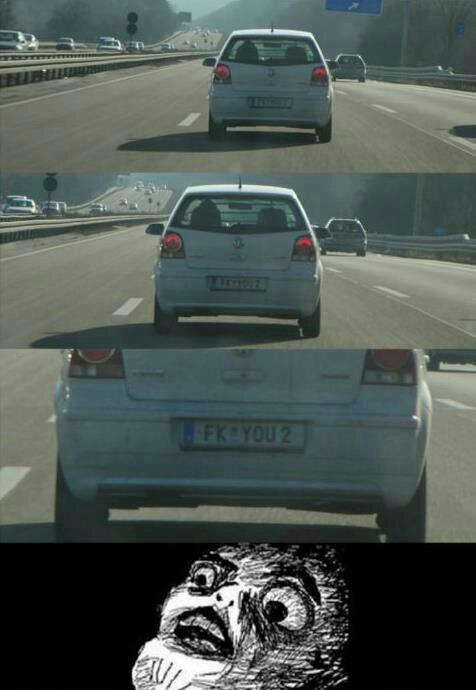Não é a praca de um carro brasileiro - meme