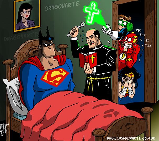 Exorcisme de Superman ... hanté par ..  Batman - meme