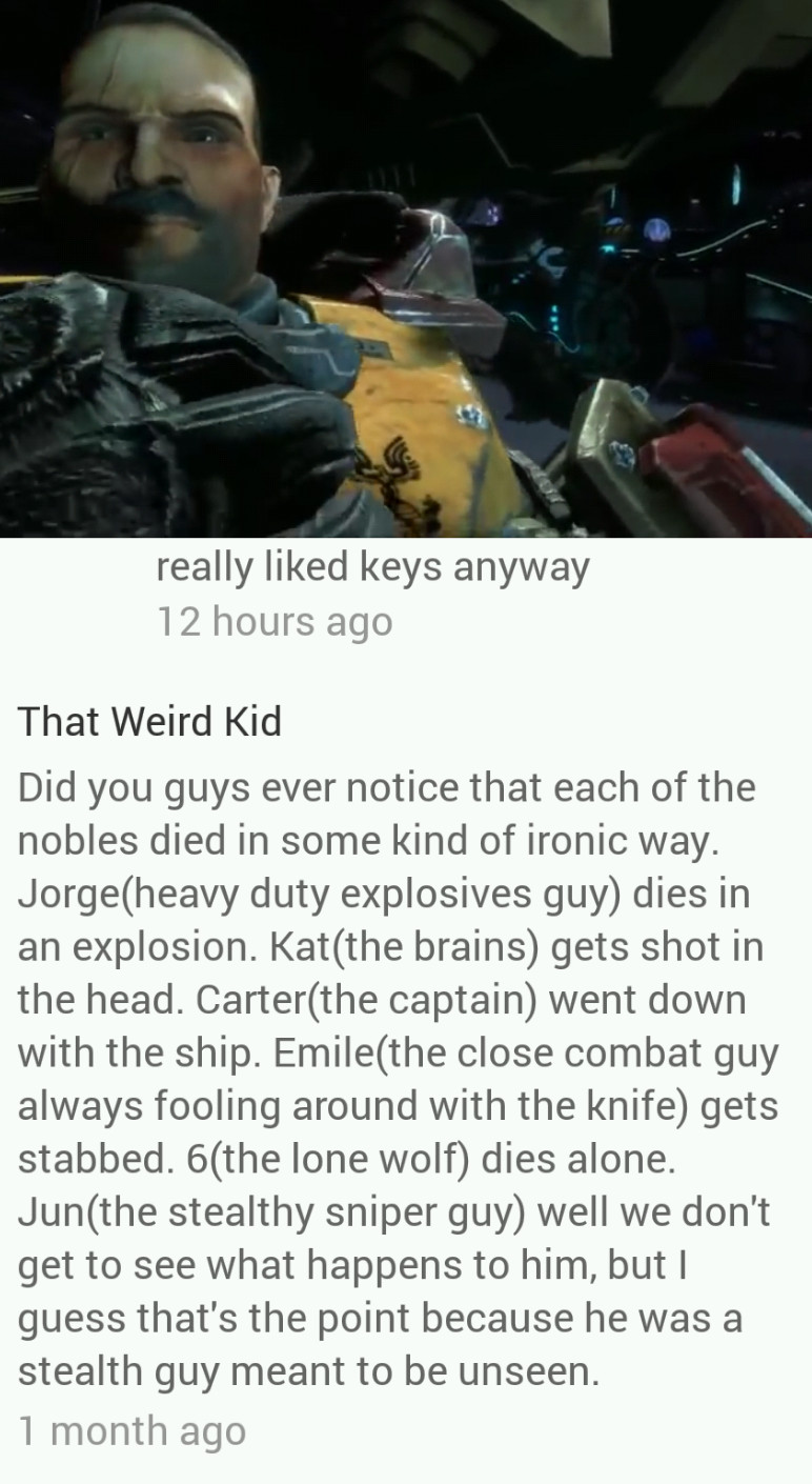 Spoilers for halo reach! I never realized it until this guy said this. - meme