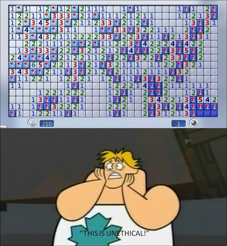 Minesweeper hates title. - meme