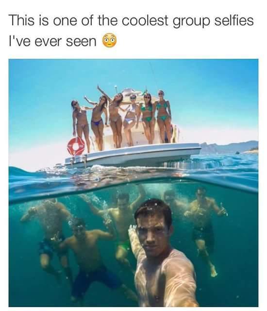 Cool selfie. - meme