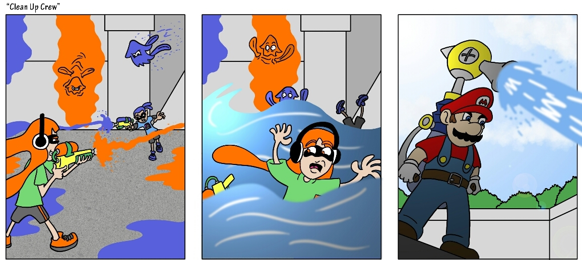 Mario Arruinando Una Partida De Splatoon - meme