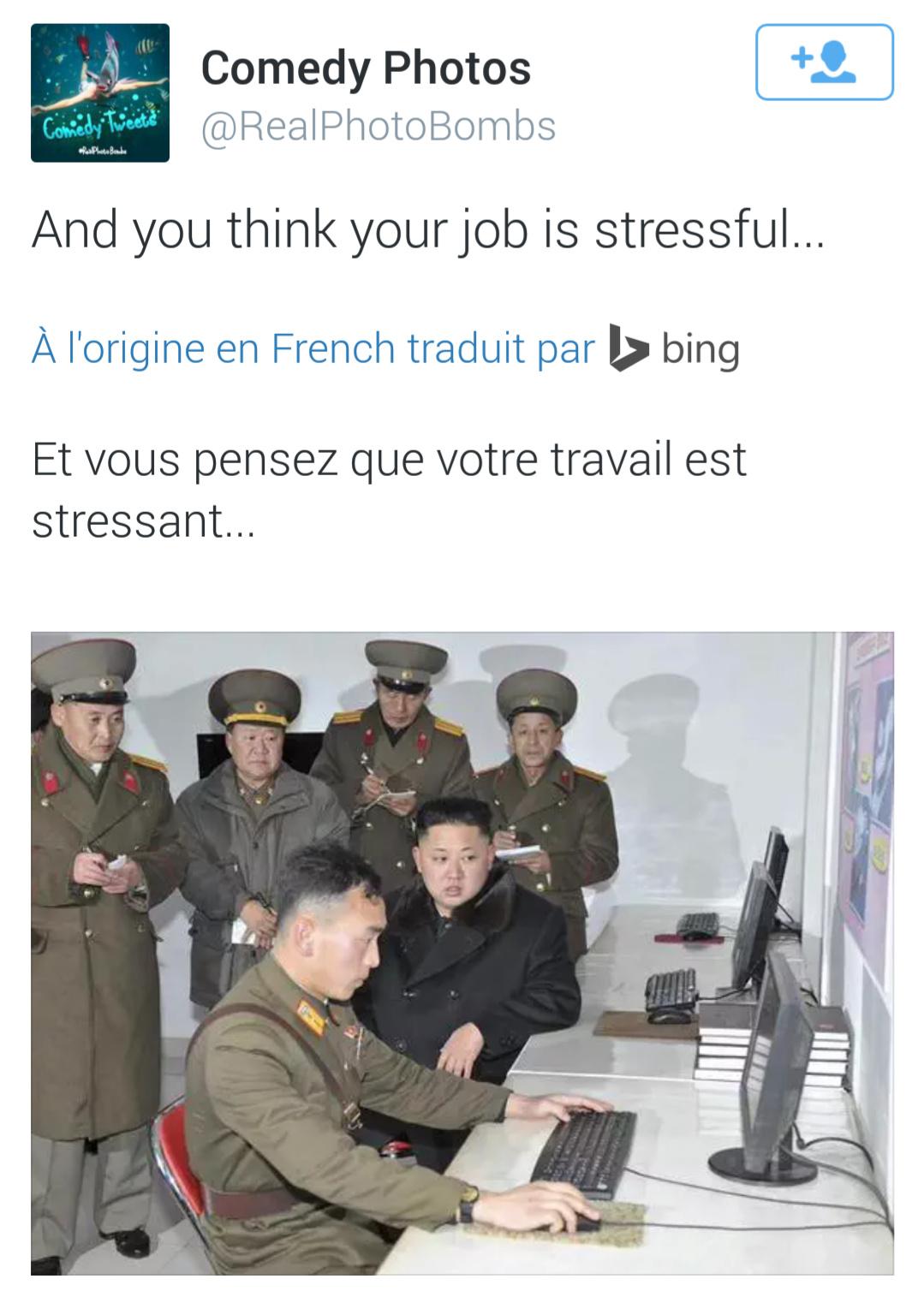Et tu pense que ton travail est stressant... :) - meme