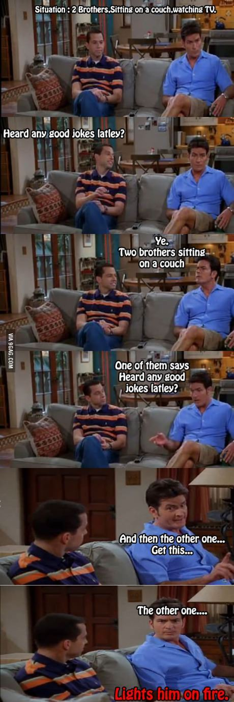 classic two and a half men. - meme