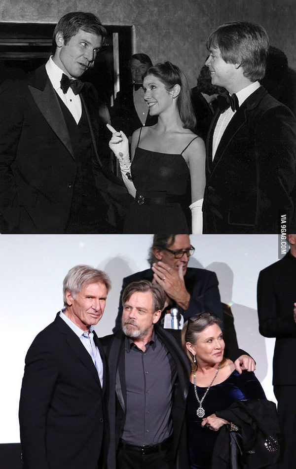 Star Wars premiers then and now - meme