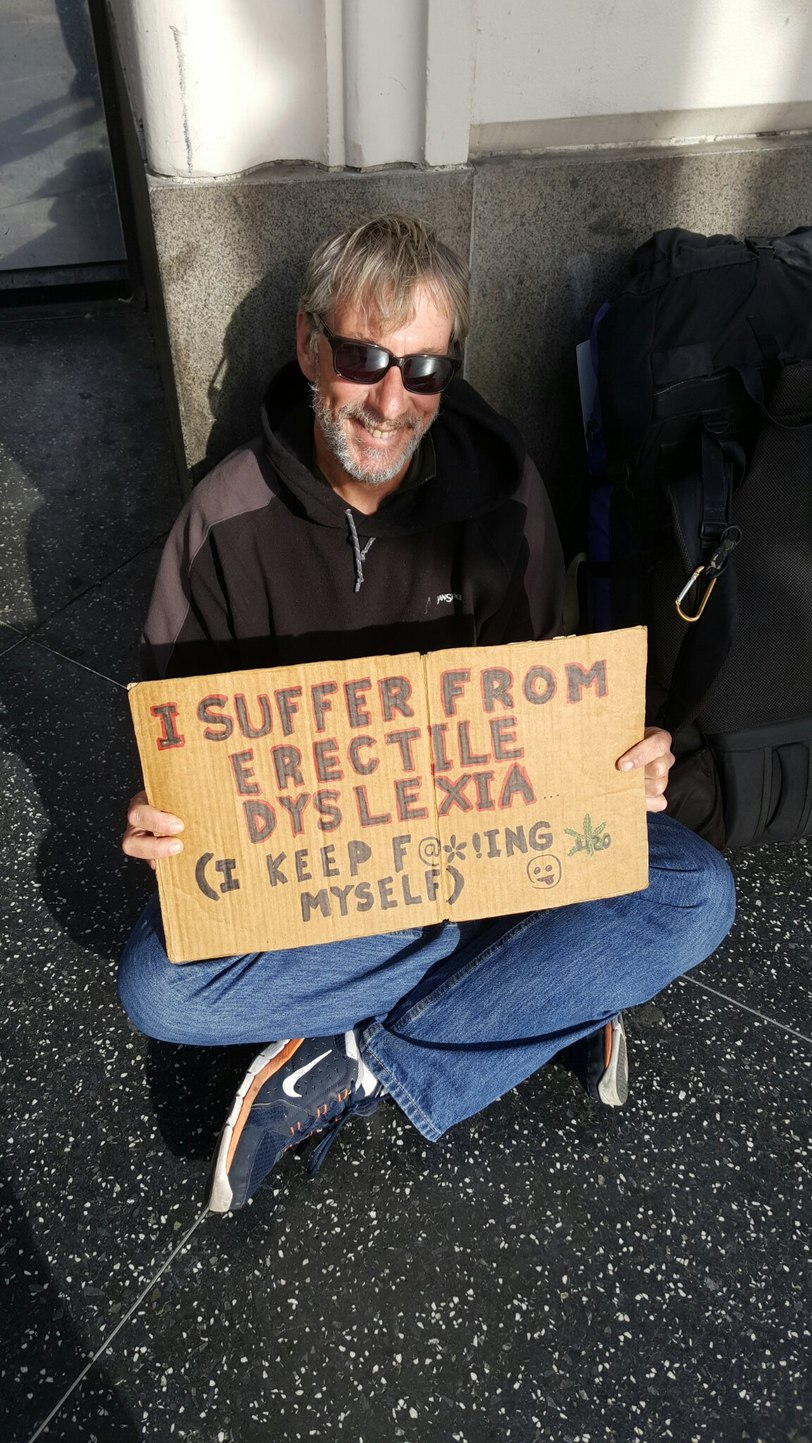 Saw homeless man on the street - meme