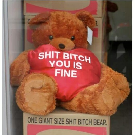 one giant size shit bitch bear. - meme