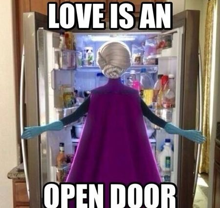 love is an open door - meme