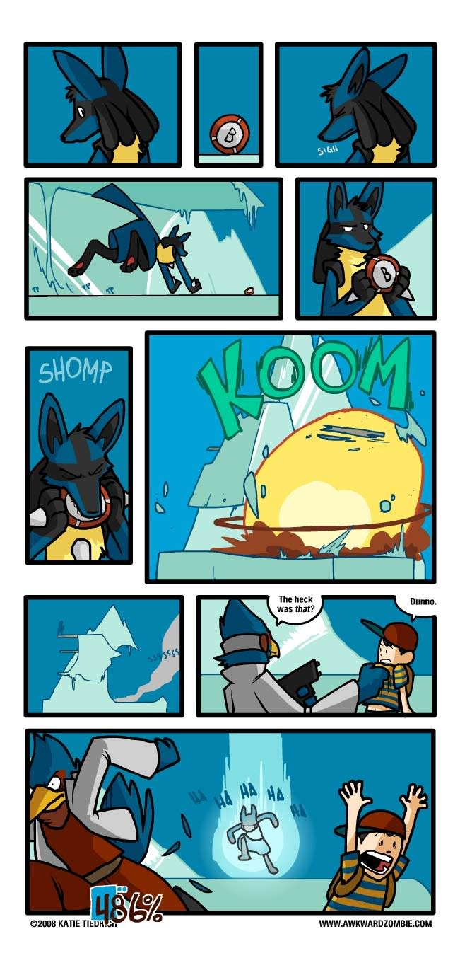 The more damage Lucario takes, the more damage he deals in return. - meme
