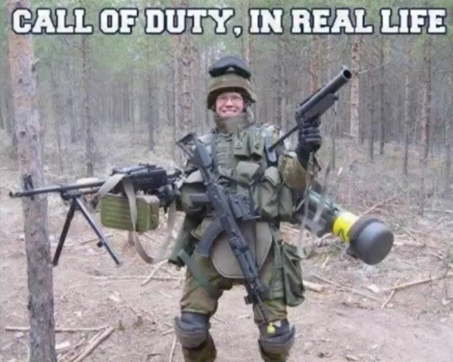 Call of duty in real life - meme