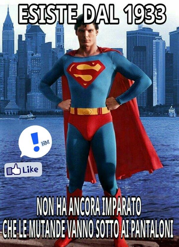 Superman incapace - meme