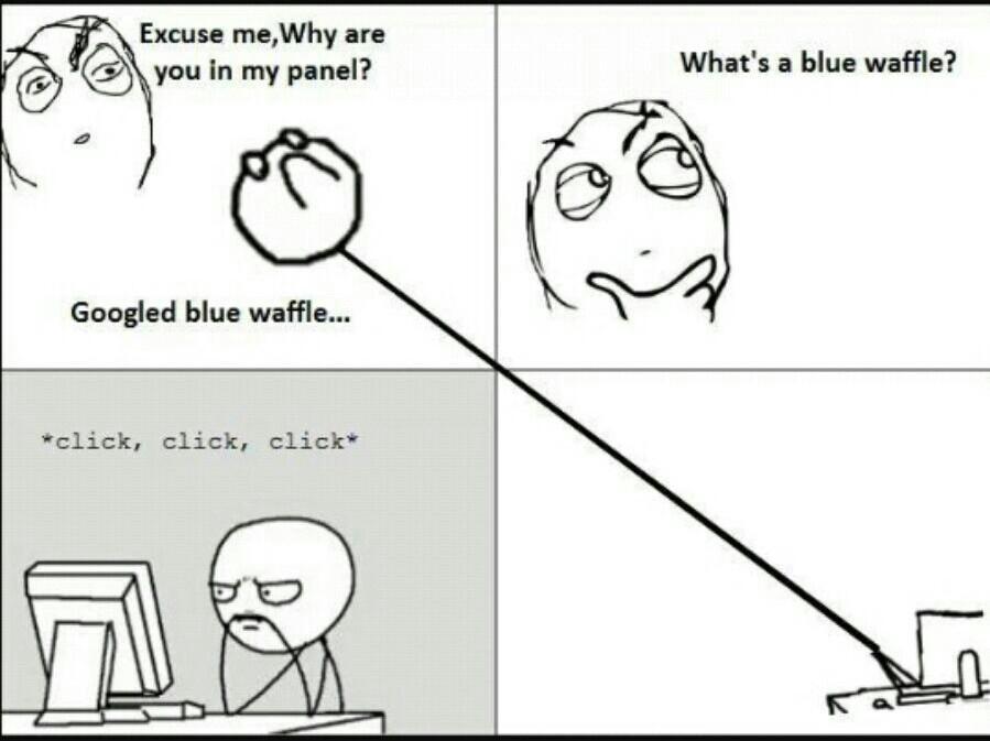 Blue Waffles anyone? - meme