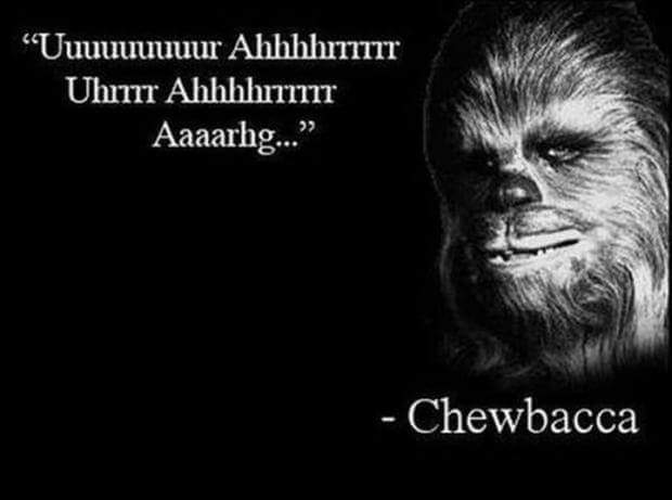 Chewbacca much - meme