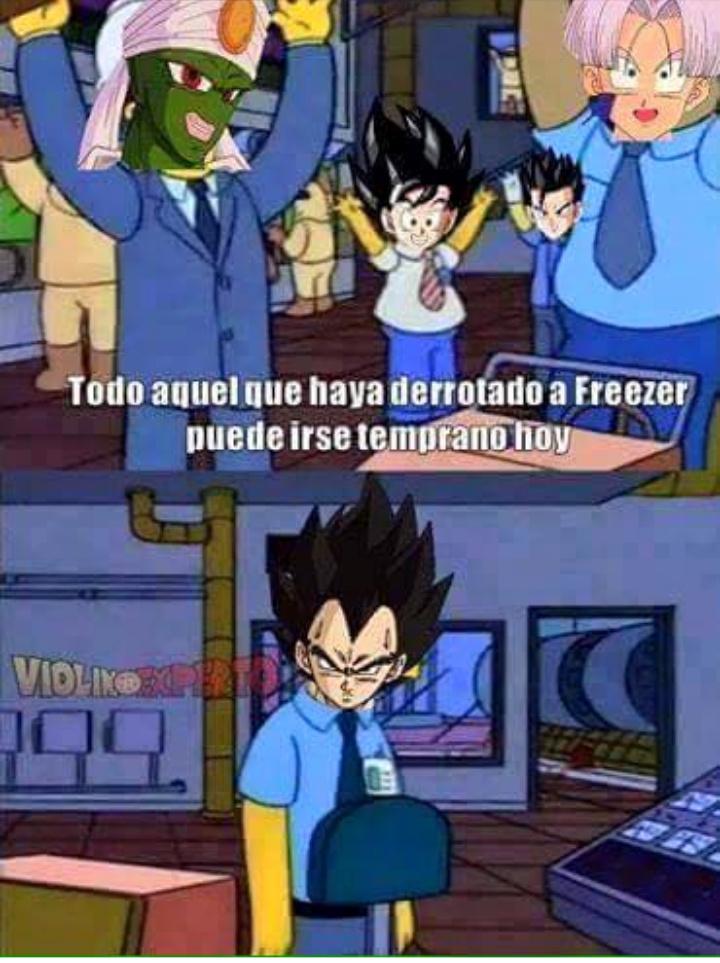 Pobre vegeta :v - meme