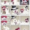 a sexy snowman