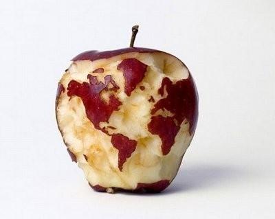 Quand tu es un artiste que tu mange une pomme - meme