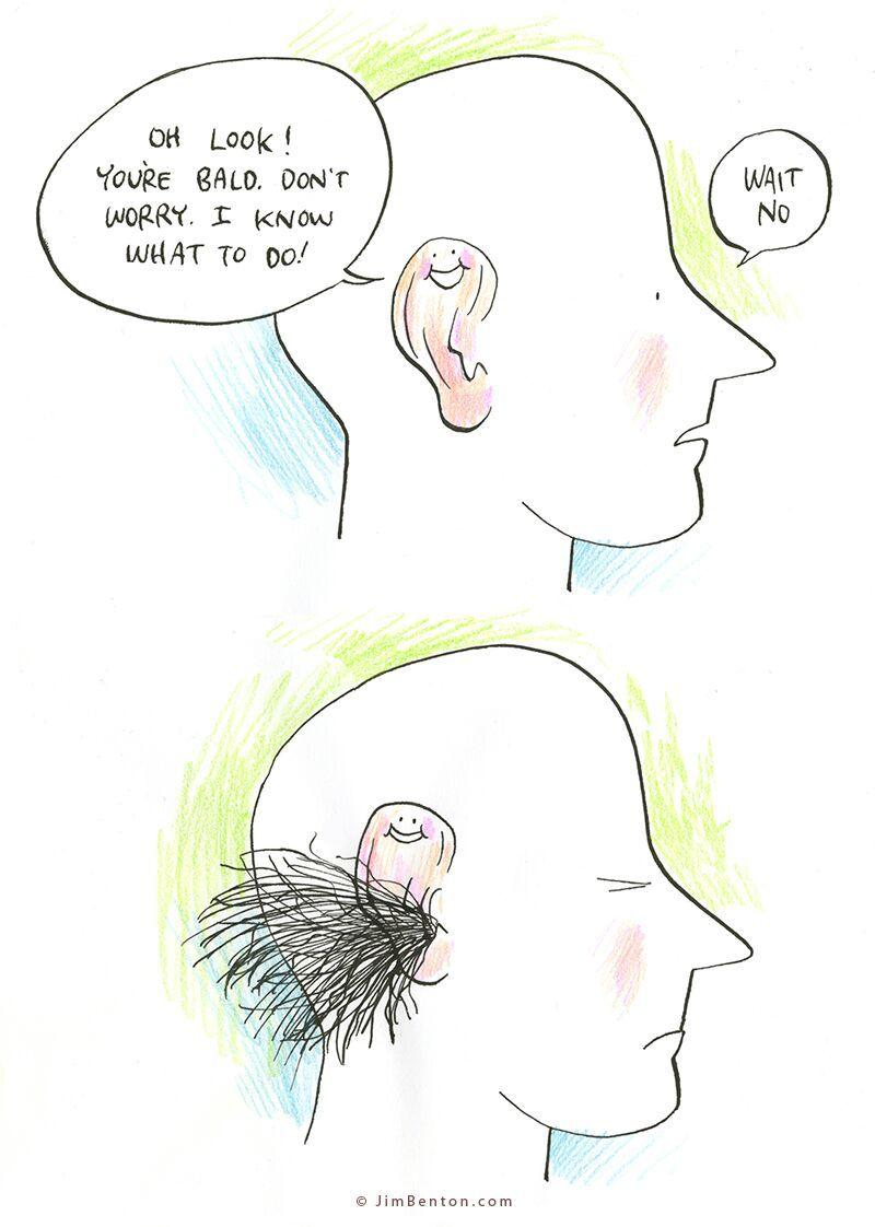ear hair is savage - meme