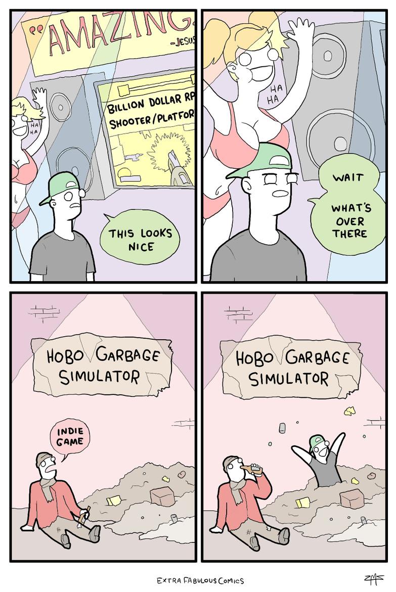 Indie games - meme