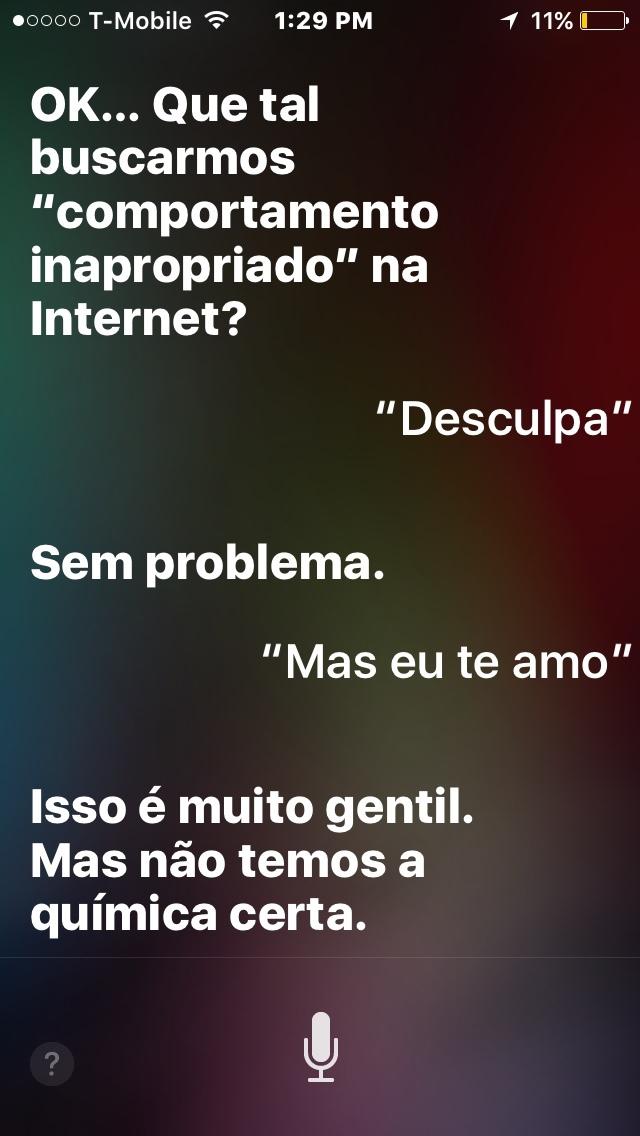 nem a Siri quer me beijar - meme