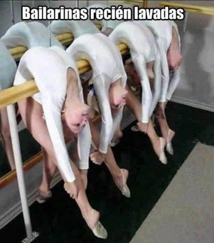 Bailarinas secándose - meme