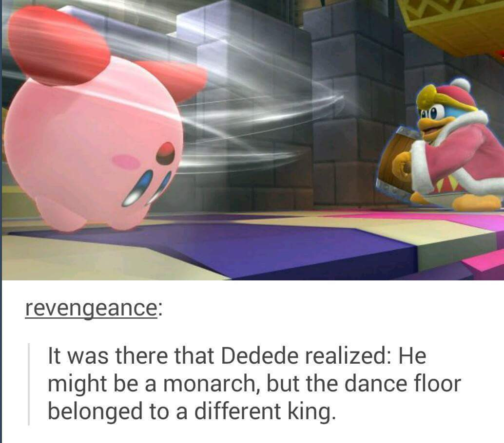 That thar Kirby has them dancing skills - meme