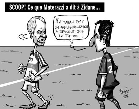 La vraie raison du coup de tête de zidane ^^ - meme