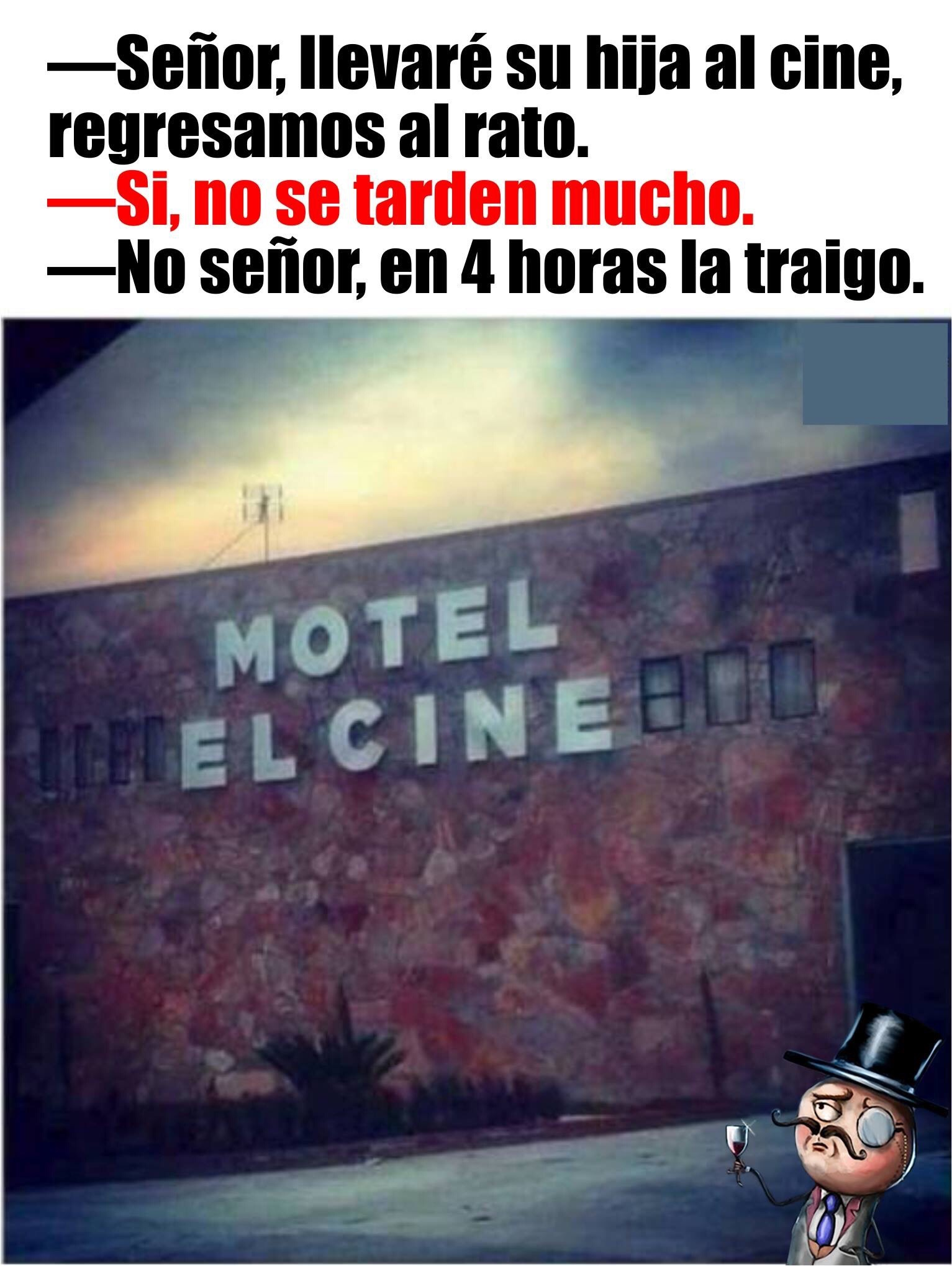 Al cine - meme