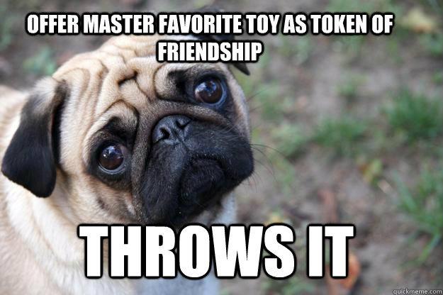 Sad pug is sad. (~O~;) - meme