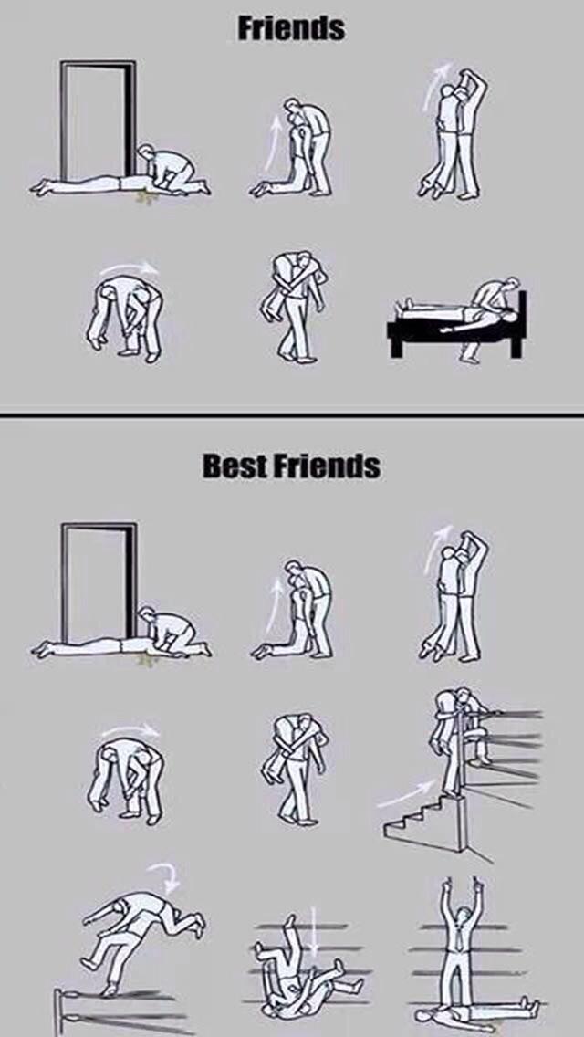 Friends vs best Friends - meme