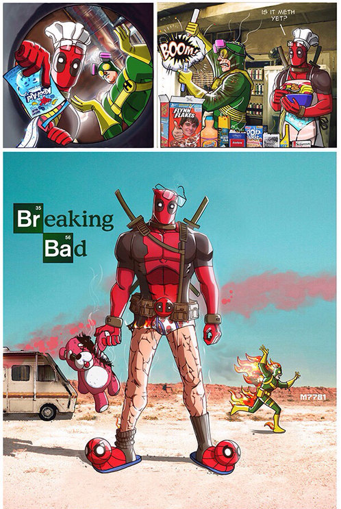 Breaking dead pool - meme