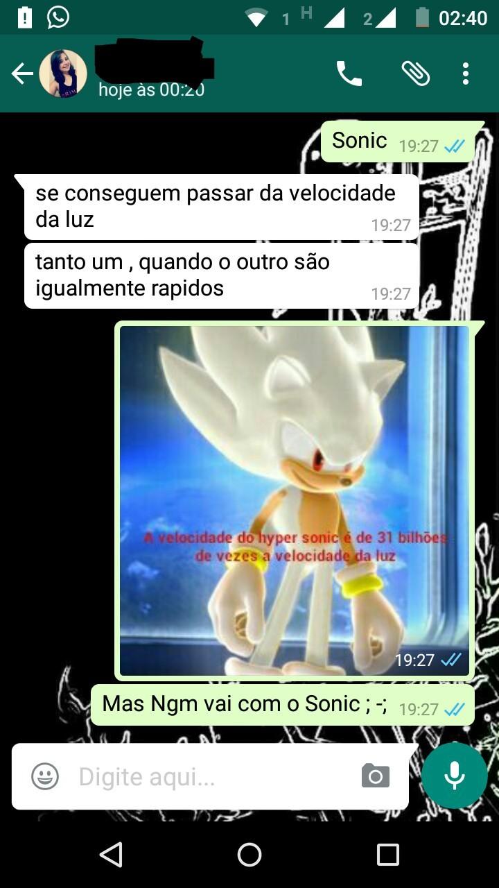 Porra Sonic  ;-; - meme