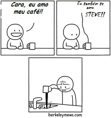 Fique em silêncio, café - meme