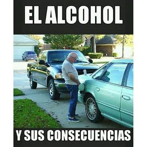 Esa sonnlas consecuencias del alcohol - meme