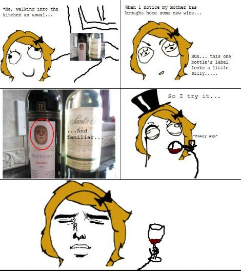 Is wine drunken hot or cold? - meme