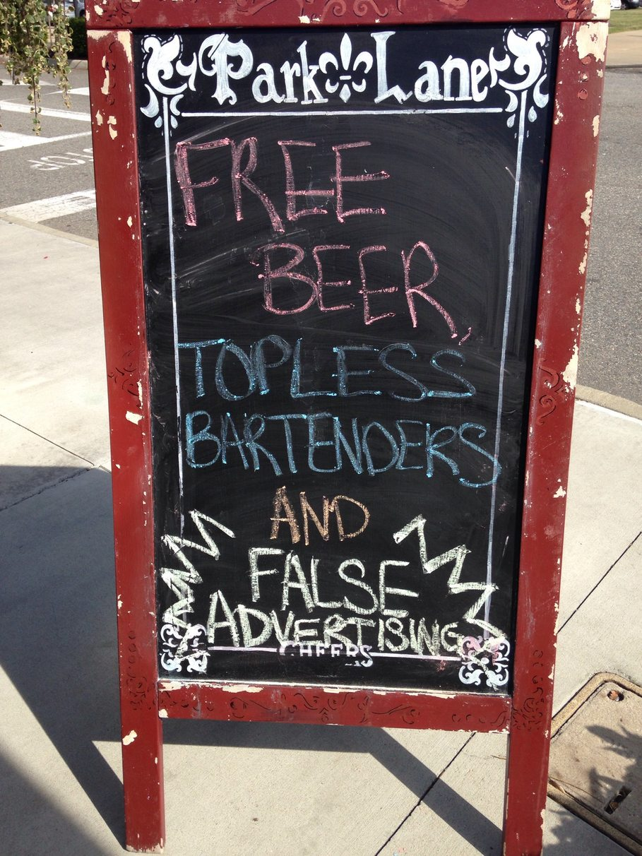 this was outside of a bar I walked by - meme