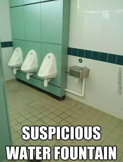 suspicious fountain - meme