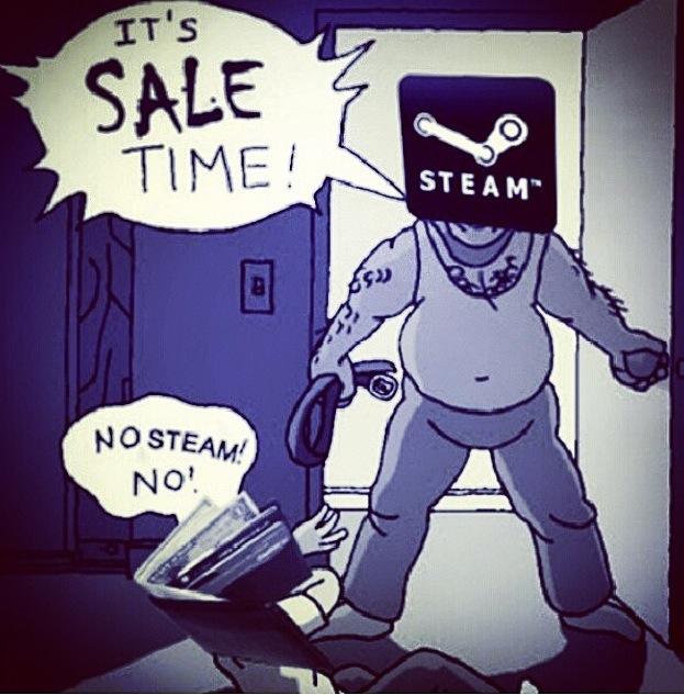 Les soldes sur Steam - meme
